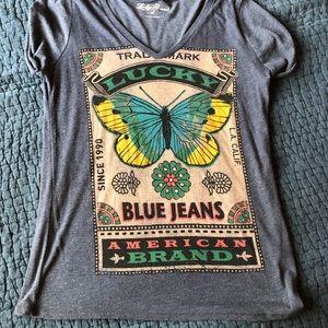 Lucky Brand Butterfly T•Shirt
